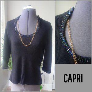 Capri Beaded Neck Sweater